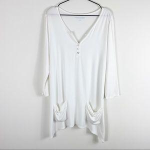 Soft Surroundings Freya Henley Tunic Shirt Top